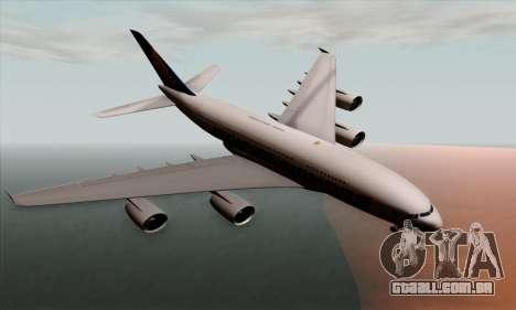 Airbus A380-800 Singapore Airline para GTA San Andreas
