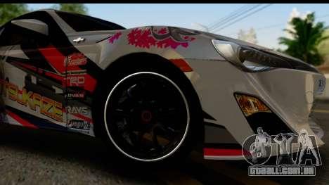 Toyota GT86 Itasha para GTA San Andreas vista traseira