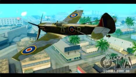 Supermarine Spitfire F MK XVI 318 SQ para GTA San Andreas esquerda vista