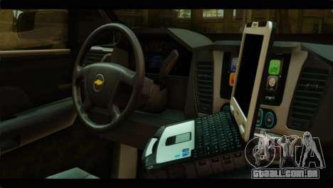 Chevrolet Suburban 2015 SAPD para GTA San Andreas vista direita