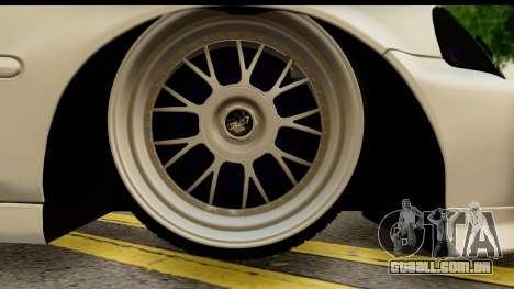 Honda Civic Si Coupe para GTA San Andreas vista traseira