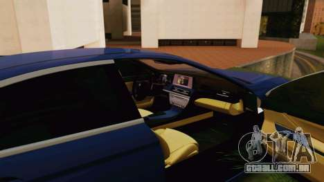 BMW 6 Series Gran Coupe 2014 para GTA San Andreas vista direita