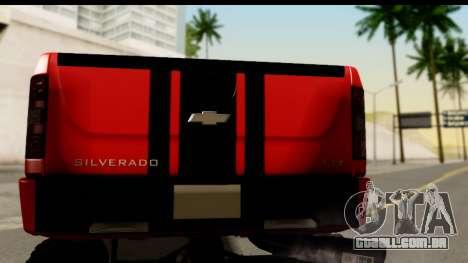 Chevrolet Silverado OffRoad para GTA San Andreas vista direita