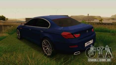 BMW 6 Series Gran Coupe 2014 para GTA San Andreas esquerda vista