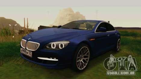 BMW 6 Series Gran Coupe 2014 para GTA San Andreas