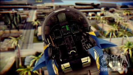 FA-18D Hornet NASA para GTA San Andreas vista traseira