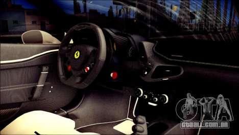 Ferrari 458 Speciale 2015 para GTA San Andreas vista direita