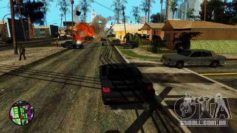 Transporte V2, em vez de balas para GTA San Andreas quinto tela
