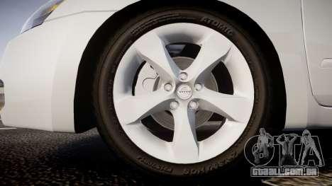 Nissan Altima 3.5 SE para GTA 4 vista de volta