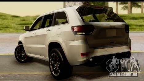 Jeep Grand Cherokee SRT8 2014 para GTA San Andreas esquerda vista