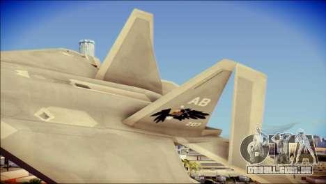 FA-18D Hornet Blue Angels para GTA San Andreas traseira esquerda vista