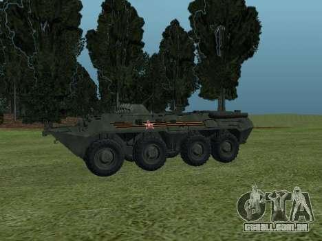 BTR 80 Frente para GTA San Andreas vista traseira
