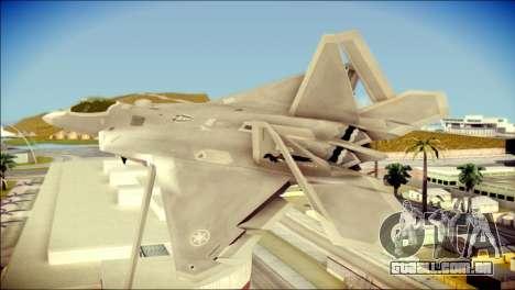 FA-18D Hornet Blue Angels para GTA San Andreas esquerda vista