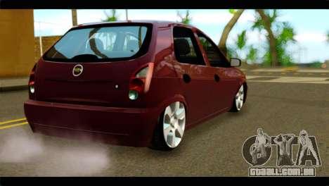 Chevrolet Celta VHC 1.0 para GTA San Andreas esquerda vista