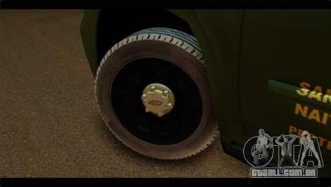 Chevrolet Suburban 2015 SANG para GTA San Andreas traseira esquerda vista