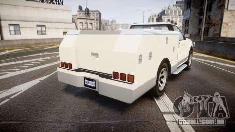 GTA V Vapid Utility Truck para GTA 4 traseira esquerda vista