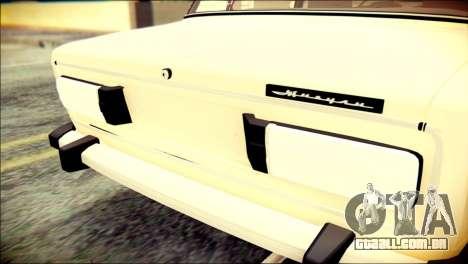 VAZ 2106 Stoke para GTA San Andreas vista traseira