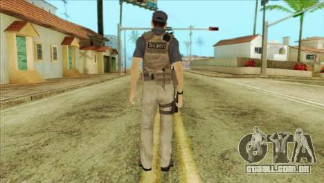 COD Advanced Warfare Jon Bernthal Security Guard para GTA San Andreas segunda tela