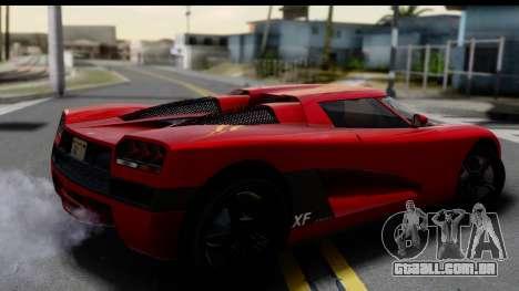 GTA 5 Overflod Entity XF para GTA San Andreas esquerda vista