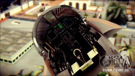 F-18D NSAWC para GTA San Andreas vista traseira
