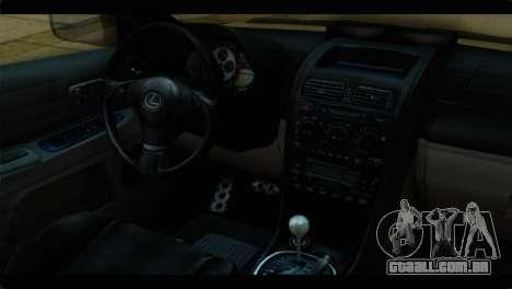 Toyota Altezza Police para GTA San Andreas vista direita
