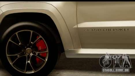 Jeep Grand Cherokee SRT8 2014 para GTA San Andreas vista traseira