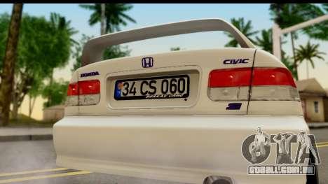 Honda Civic Si Coupe para GTA San Andreas vista direita