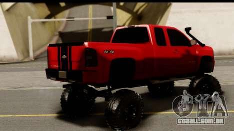 Chevrolet Silverado OffRoad para GTA San Andreas esquerda vista