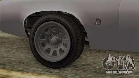 GTA 5 Declasse Stallion IVF para GTA San Andreas traseira esquerda vista