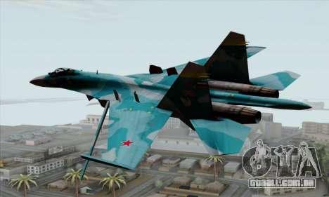 SU-27 Flanker A Warwolf Squadron para GTA San Andreas esquerda vista