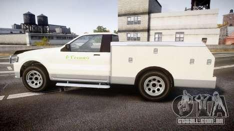 GTA V Vapid Utility Truck para GTA 4 esquerda vista