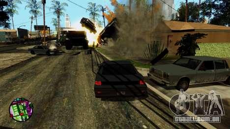 Transporte V2, em vez de balas para GTA San Andreas oitavo tela