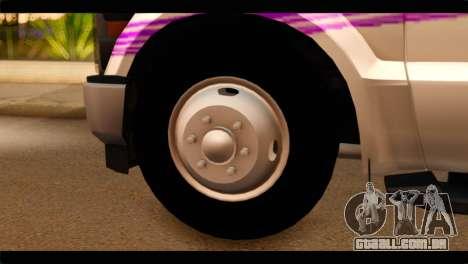 Ford F-350 Bus para GTA San Andreas traseira esquerda vista