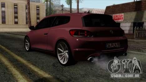 Volkswagen Scirocco R para GTA San Andreas esquerda vista