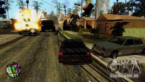 Transporte V2, em vez de balas para GTA San Andreas nono tela