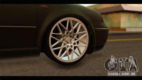 Volkswagen Bora 2007 para GTA San Andreas traseira esquerda vista