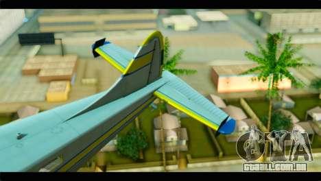 GTA 5 Sea Plane para GTA San Andreas traseira esquerda vista