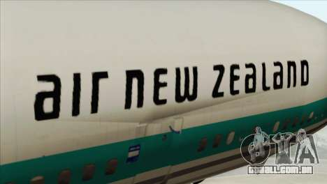 DC-10-30 Air New Zealand para GTA San Andreas vista traseira