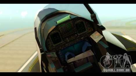 McDonnell Douglas FA-18 HARV v2 para GTA San Andreas vista traseira