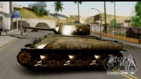 M4A1 Sherman First in Bastogne para GTA San Andreas traseira esquerda vista