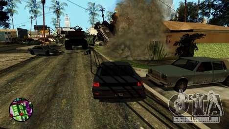 Transporte V2, em vez de balas para GTA San Andreas sexta tela