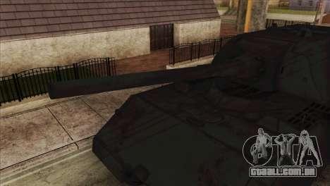 Panzerkampfwagen VIII Maus para GTA San Andreas traseira esquerda vista
