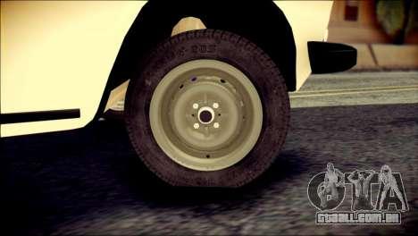 VAZ 2106 Stoke para GTA San Andreas traseira esquerda vista