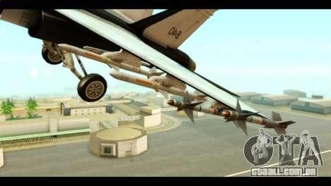 McDonnell Douglas FA-18 HARV v2 para GTA San Andreas vista direita