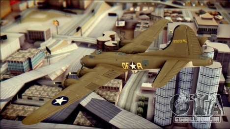 B-17G Flying Fortress para GTA San Andreas esquerda vista