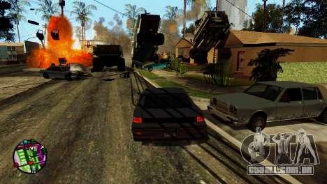 Transporte V2, em vez de balas para GTA San Andreas décimo tela