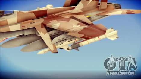F-22 Raptor Starscream para GTA San Andreas vista direita