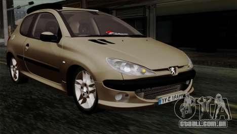 Peugeot 206 para GTA San Andreas