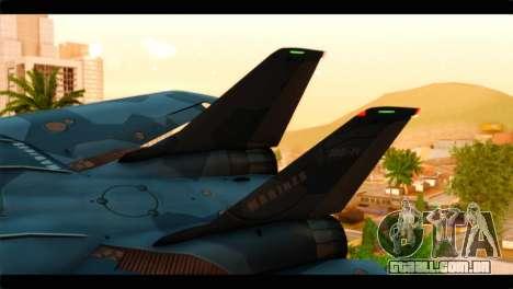 Grumman F-14D SuperTomcat Metal Gear Ray para GTA San Andreas traseira esquerda vista