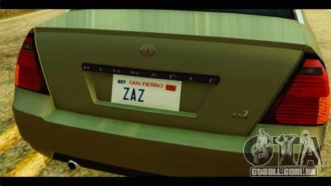 GTA 4 Pinnacle para GTA San Andreas vista traseira